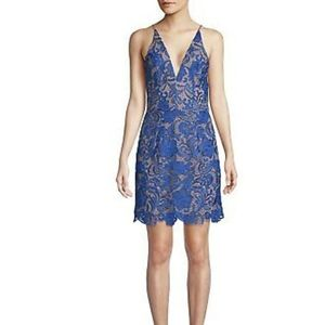 Dress the Population Ava Lace Plunge Mini Dress